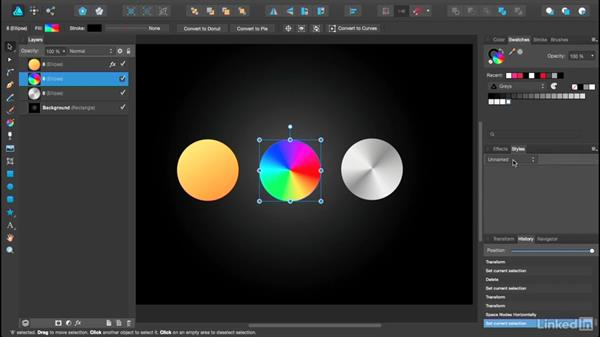 Creating and saving styles: Affinity Designer Essential Training