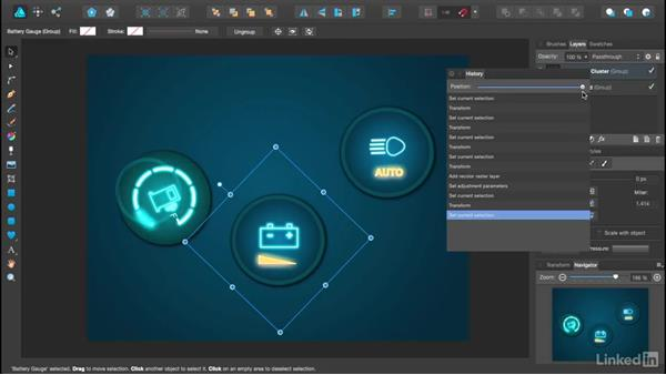 Using the History Navigator panel: Affinity Designer Essential Training