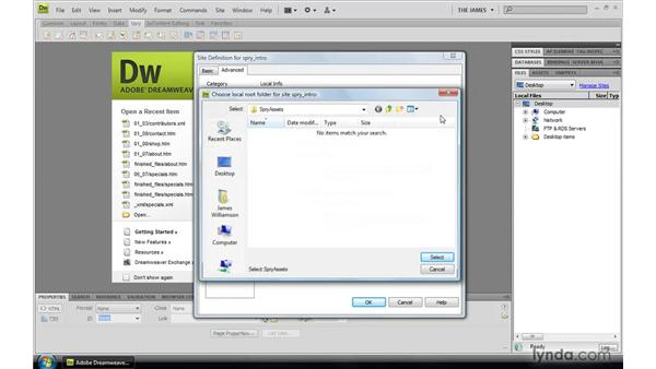 Using the exercise files: Dreamweaver CS4: Introduction to Spry