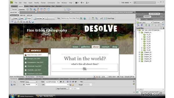Dreamweaver-Spry integration: Dreamweaver CS4: Introduction to Spry