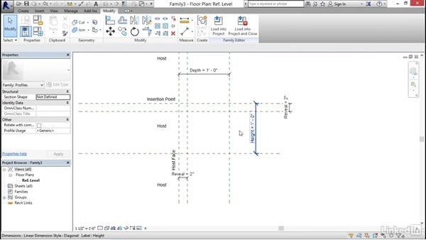 Creating a standard cove: Architectural Families in Revit