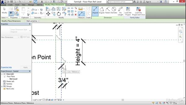 Creating a baseboard profile: Architectural Families in Revit