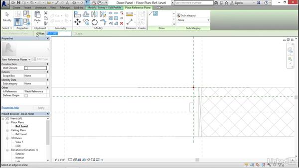 Creating a stile and rail door panel: Architectural Families in Revit