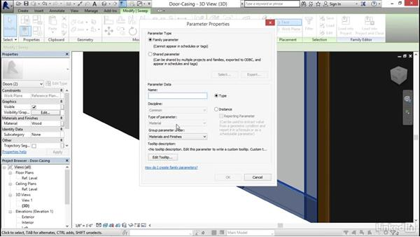 Adding casing: Architectural Families in Revit