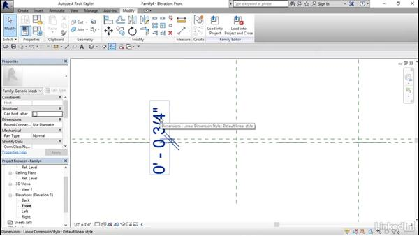 Creating a shelf: Architectural Families in Revit