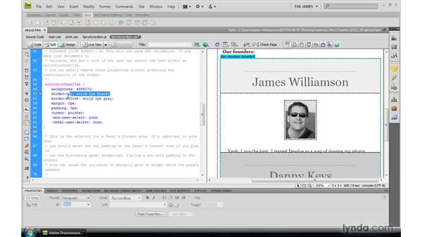 Styling Spry widgets: Dreamweaver CS4: Introduction to Spry