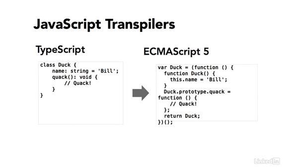 """Defining """"JavaScript"""": TypeScript Essential Training"""