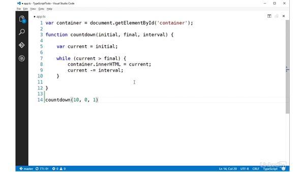 Default parameters: TypeScript Essential Training