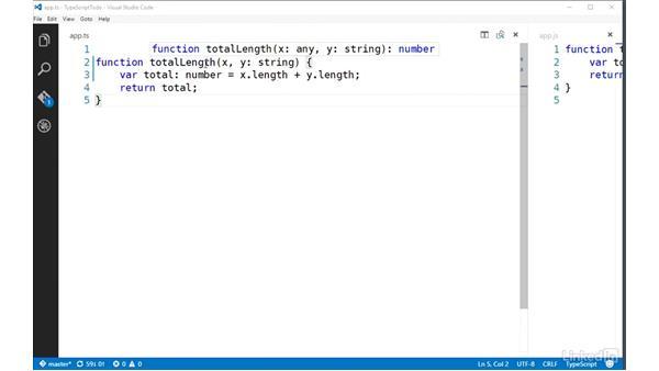 Specifying JavaScript types: TypeScript Essential Training