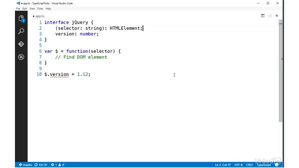 Using interfaces to describe functions: TypeScript Essential Training