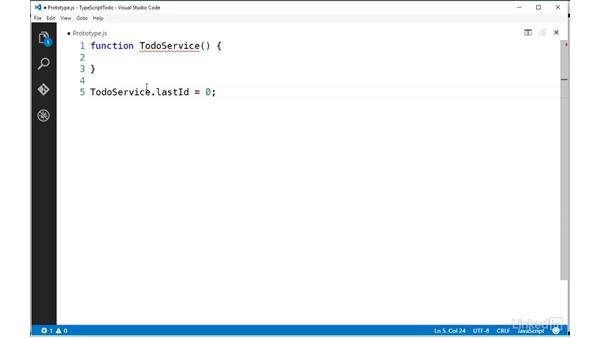 Applying static properties: TypeScript Essential Training
