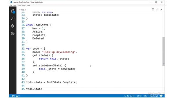 Making properties smarter with accessors: TypeScript Essential Training