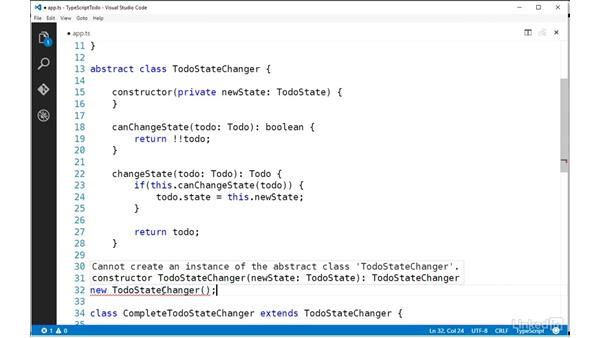 Implementing an abstract class: TypeScript Essential Training