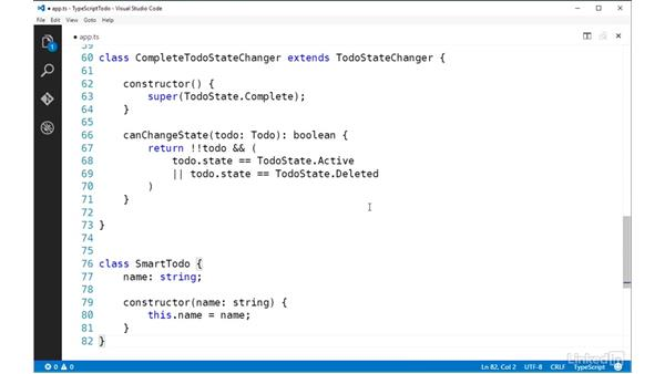 Controlling visibility with access modifiers: TypeScript Essential Training