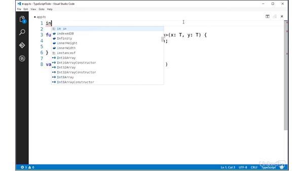 Applying generic constraints: TypeScript Essential Training