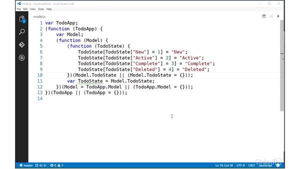 Using namespaces to encapsulate private members: TypeScript Essential Training