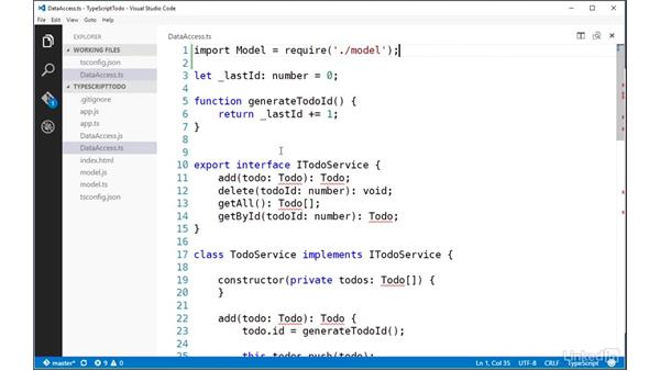 Importing modules using CommonJS syntax: TypeScript Essential Training