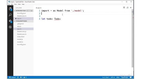Importing modules using ECMAScript 2015 syntax: TypeScript Essential Training