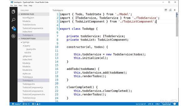 Converting to external modules: TypeScript Essential Training
