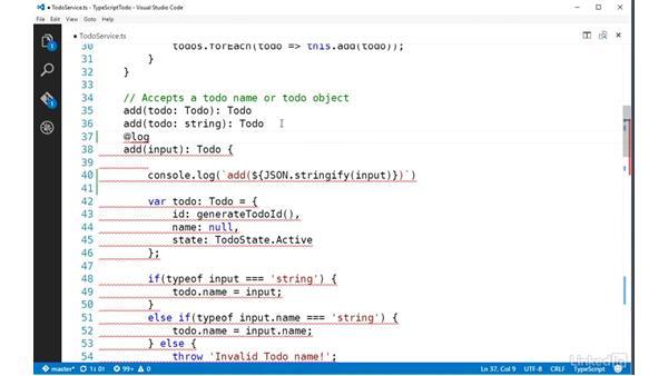 Implementing method decorators: TypeScript Essential Training