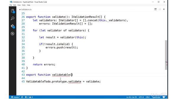 Implementing class decorators: TypeScript Essential Training