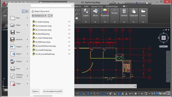 Exploring the user interface: AutoCAD 2017 Essential Training