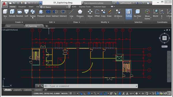 Changing workspaces: AutoCAD 2017 Essential Training