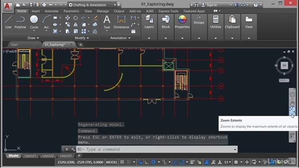 Using the navigation bar: AutoCAD 2017 Essential Training
