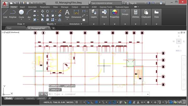 Editing and managing options: AutoCAD 2017 Essential Training