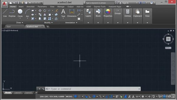 Using template files—DWT: AutoCAD 2017 Essential Training