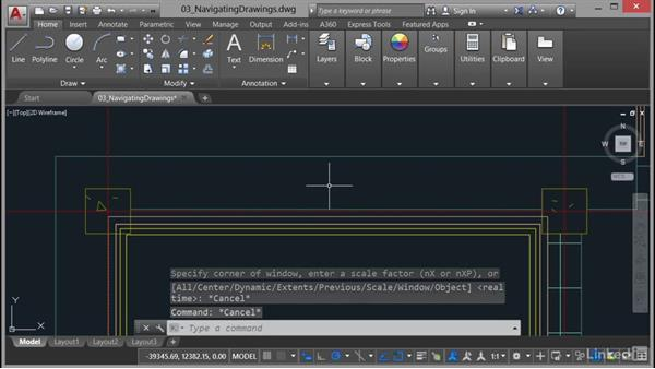 Using Zoom commands: AutoCAD 2017 Essential Training