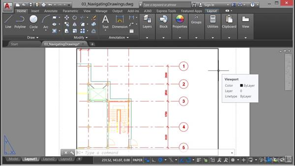 Model and layout: AutoCAD 2017 Essential Training