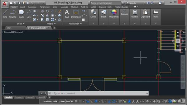 Rectangles and polygons: AutoCAD 2017 Essential Training