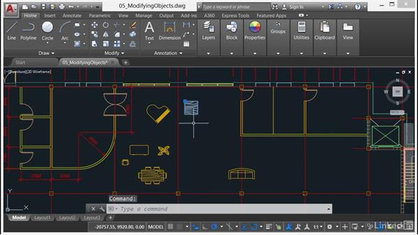 Selecting objects: AutoCAD 2017 Essential Training