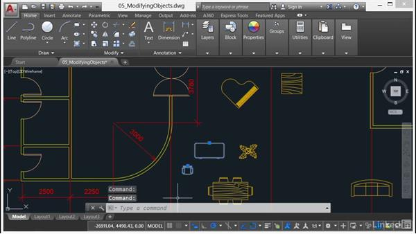 Using Move and Copy: AutoCAD 2017 Essential Training