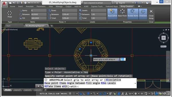 Creating and using arrays: AutoCAD 2017 Essential Training