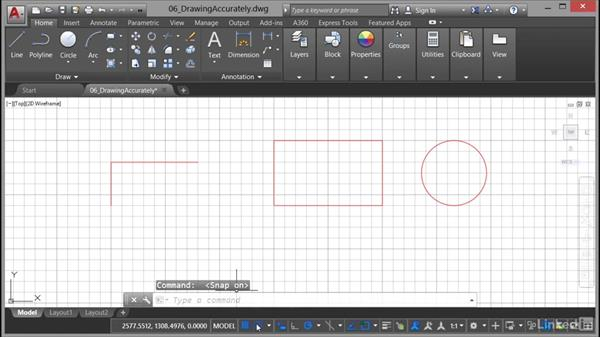 Using Grid and Snap: AutoCAD 2017 Essential Training