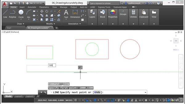 Working with coordinates: AutoCAD 2017 Essential Training