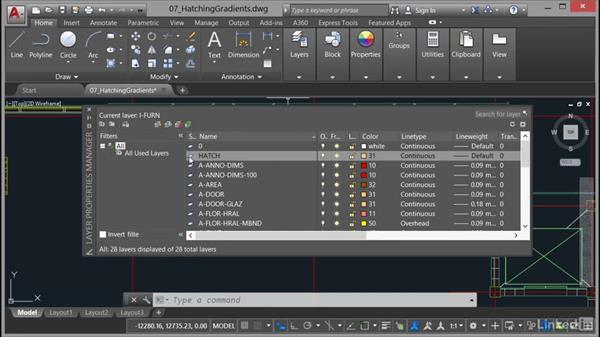 Using the Hatch command: AutoCAD 2017 Essential Training
