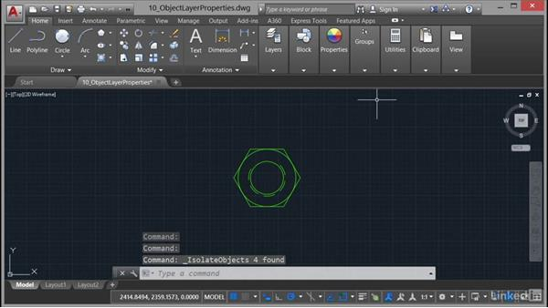 Using Hide and Isolate: AutoCAD 2017 Essential Training