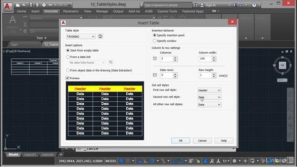 Designing a table: AutoCAD 2017 Essential Training