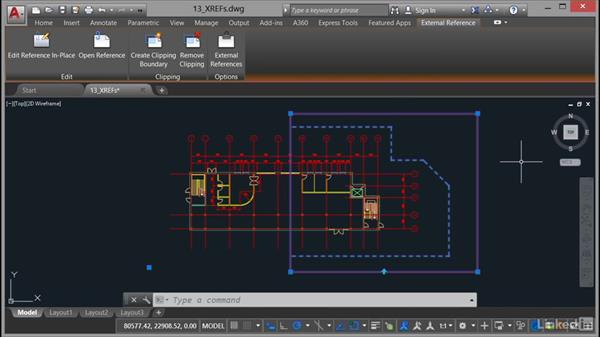 Clipping XREFs: AutoCAD 2017 Essential Training
