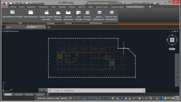 Editing XREFs in place: AutoCAD 2017 Essential Training