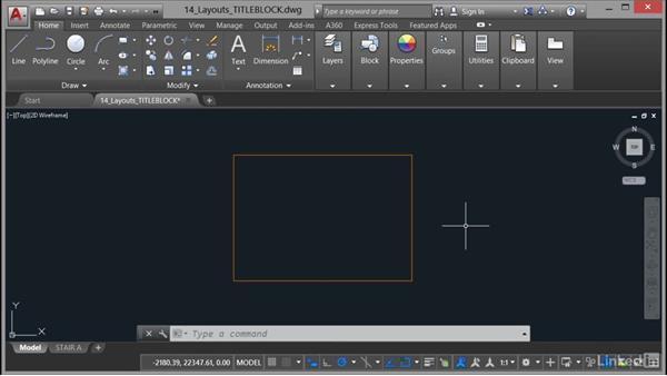 Adding a title block: Part 1: AutoCAD 2017 Essential Training