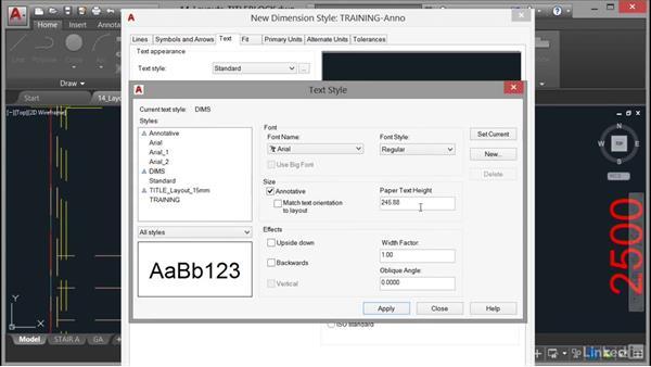 Using annotative dimensions: AutoCAD 2017 Essential Training