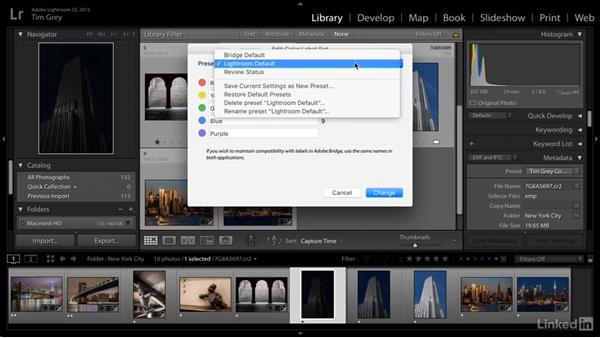 Color label mismatches when organizing images: Learn Photo Management: Metadata