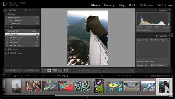 Mapping locations with metadata manually: Learn Photo Management: Metadata