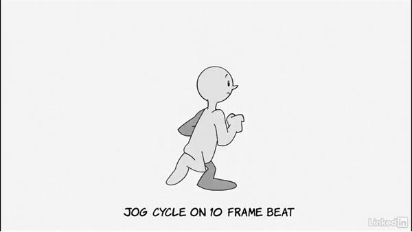 Animating a jog cycle on tens: 2D Animation: Character & Attitude Walk Cycles