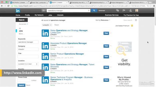 Use Lynda.com to build skills: LinkedIn for Veterans