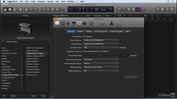 Configuring Logic preferences: Producing Electronic Music in Logic Pro